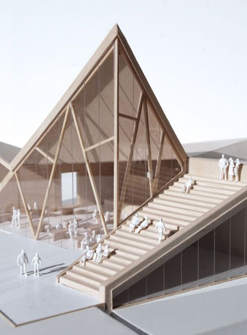 Reiulf Ramstad Architects; Trollveggen; tight model, not sold on the architecture
