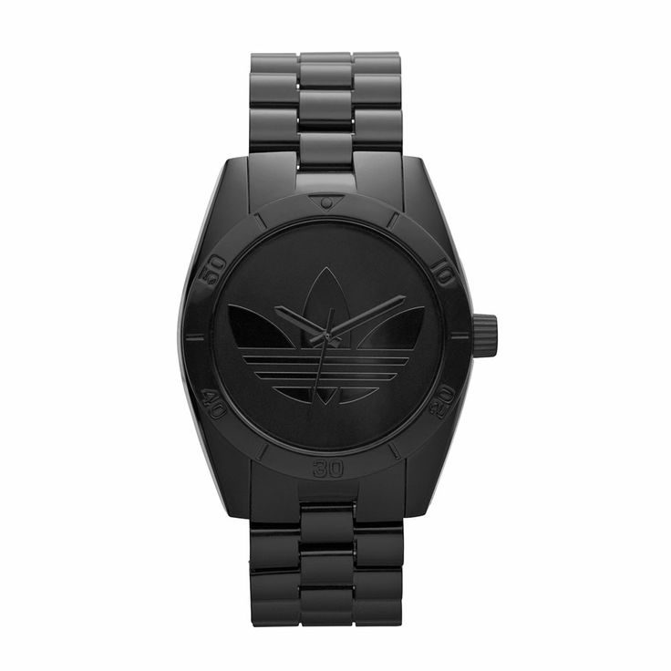It's all about black, and Santiago goes big with a classic black-on-black look that pops the trefoil logo with a polished finish.  R1399.00  http://www.watchrepublic.co.za/brand/adidas/men/adidas-santiago-watch-0
