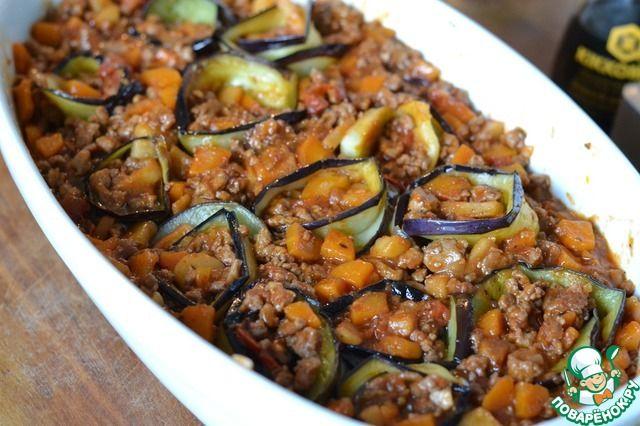 Овощное рагу с мясом и баклажанами ингредиенты