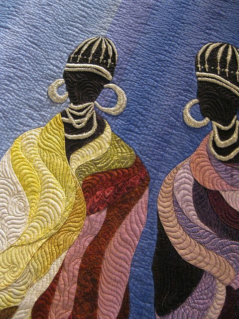"""""""Poor and Rich"""" by Janneke de Vries-Bodzinga. 2014 Festival of Quilts (UK), closeup photo by LauraStitch- Lavori in Corso blog"""