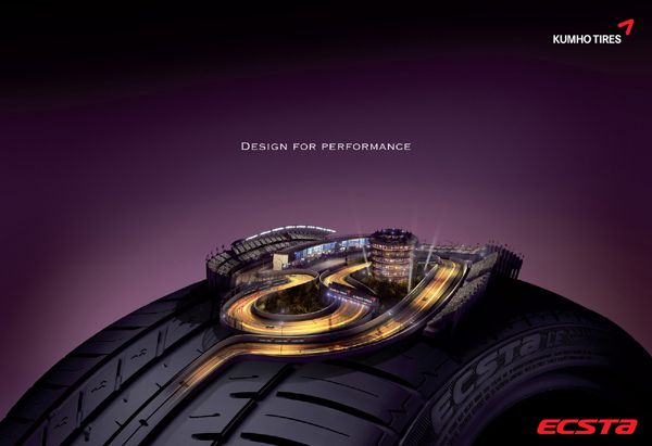 Print Ad for Kumho Tires by Rhizome