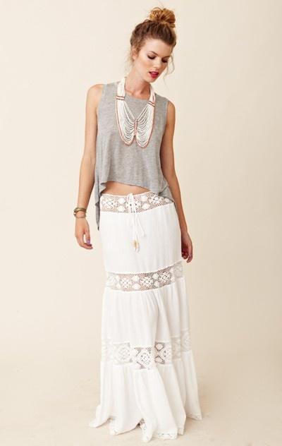 Michelle Jonas Mich Long Hippie Skirt