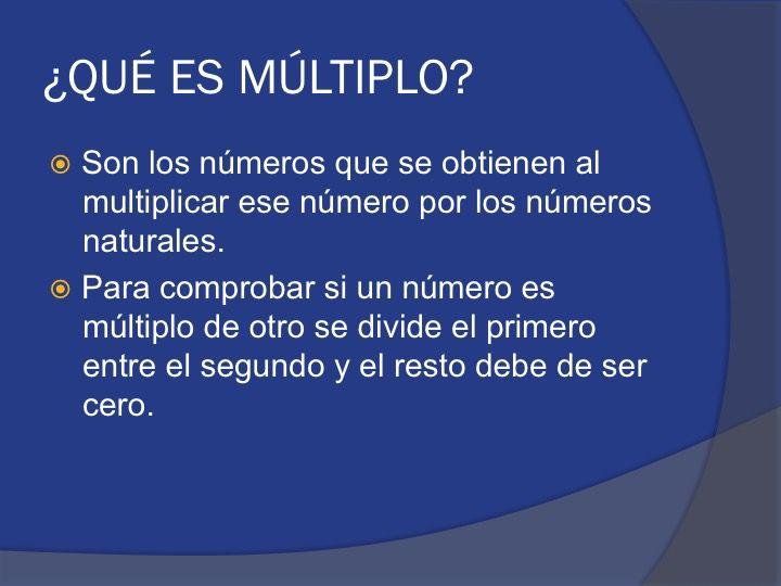 Matemáticas Tema 2 Múltiplos Y Divisores Que Es Múltiplo Multiplos Y Divisores Material Didactico Para Matematicas Matematicas