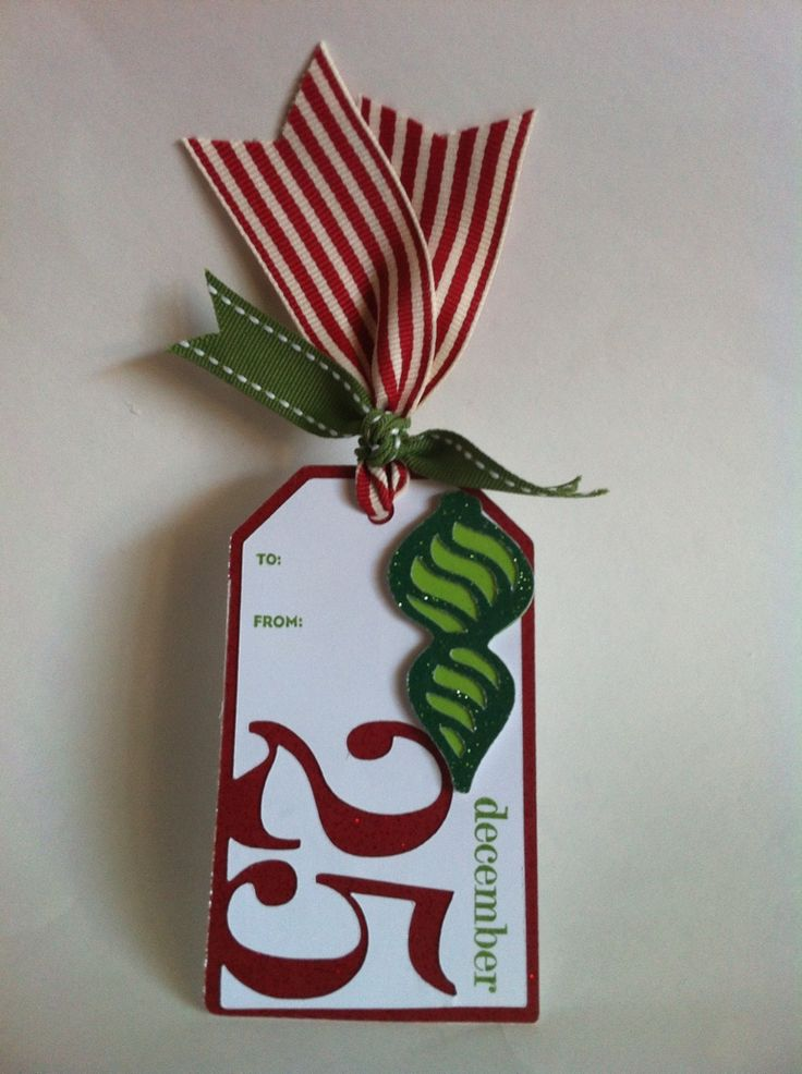 Easy gift tags made using the Teresa Collins Christmas Sentiments cartridge and the Artiste cartridge.