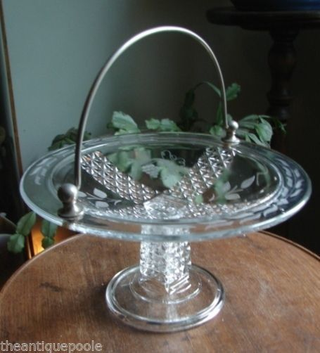 Victorian Eapg Pattern Glass Prism Amp Daisy Pedestal Fruit
