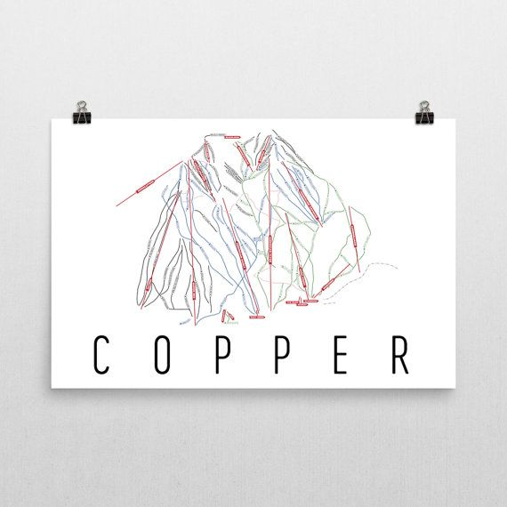 **MADE IN THE USA** Youll love this amazing Copper Mountain Art Print! This Copper Mountain ski map shows all of the trails and lifts at Copper Mountain. This will fit any decor, and also makes a great gift. If you love Copper Mountain, Colorado, this is for you! This print is our