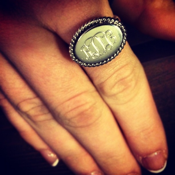 Monogrammed ring https://www.facebook.com/pages/Marley-Lilly/134956066551309