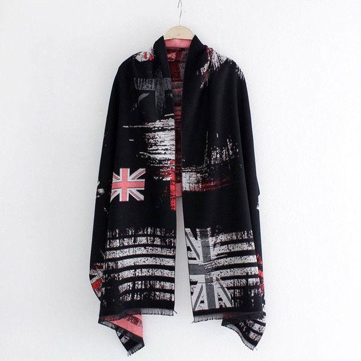 British flag Cashmere Scarf - Available in 5 variants