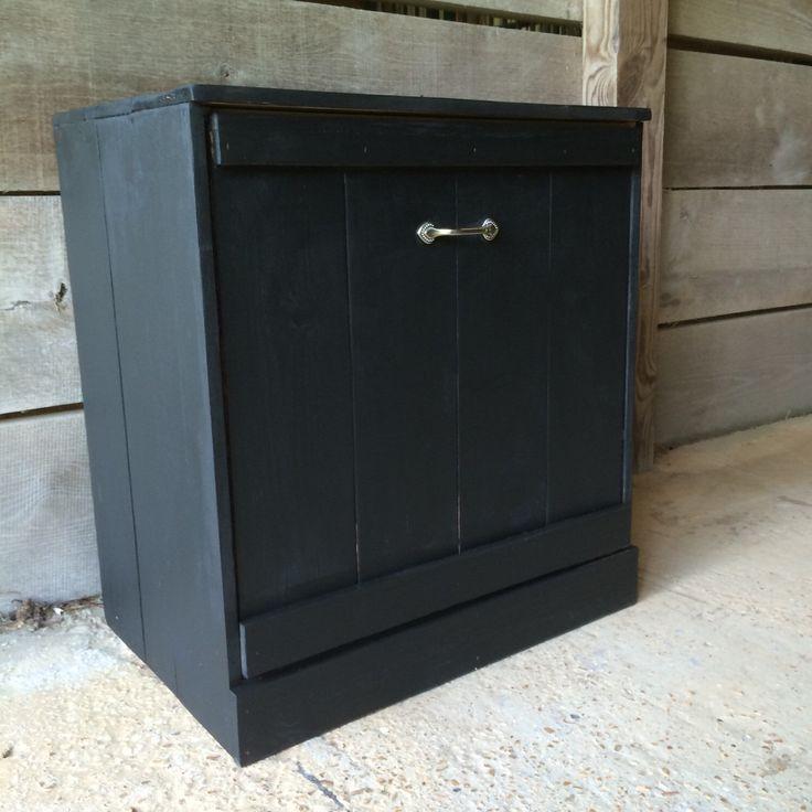 Tilt out trash bin/ Wood trash can/ Recycle bin by repurposemama on Etsy https://www.etsy.com/listing/237360977/tilt-out-trash-bin-wood-trash-can