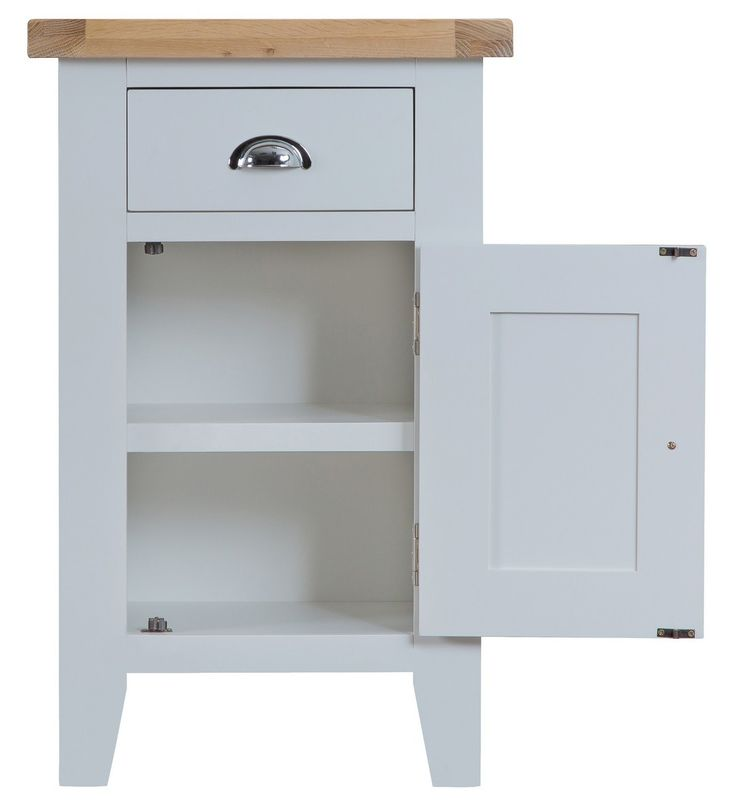 Bonsoni Tulsa Grey Small Cupboard by Kaldors  This collection can be supplied with aged brass effect handles as an optional extra.  https://www.bonsoni.com/tulsa-grey-small-cupboard-by-kaldors