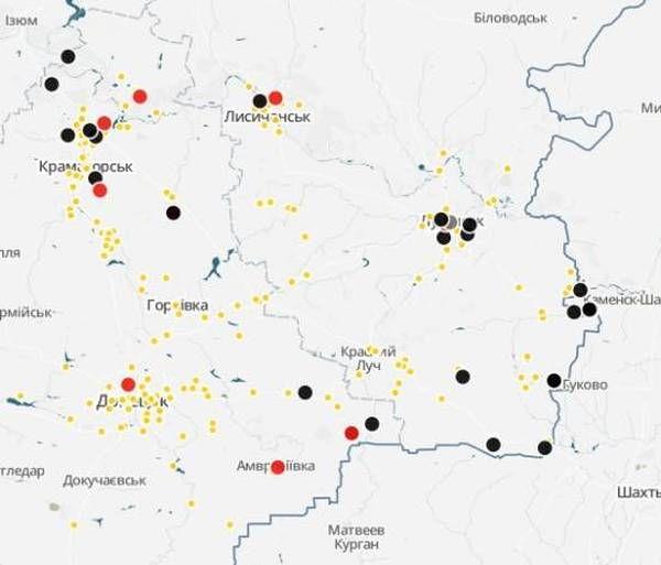 Интерактивная карта зоны боевых действий АТО (ОБНОВЛЯЕТСЯ)   АРГУМЕНТ