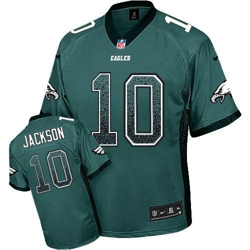 nfl jersey mens nike eagles 10 desean jackson midnight green team color stitched elite drift fashion