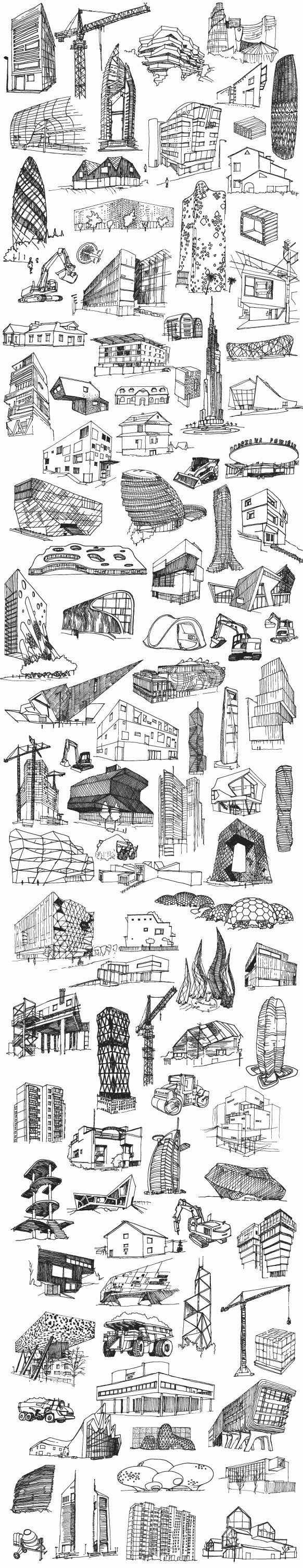 Perfect example of building sketch studies!!