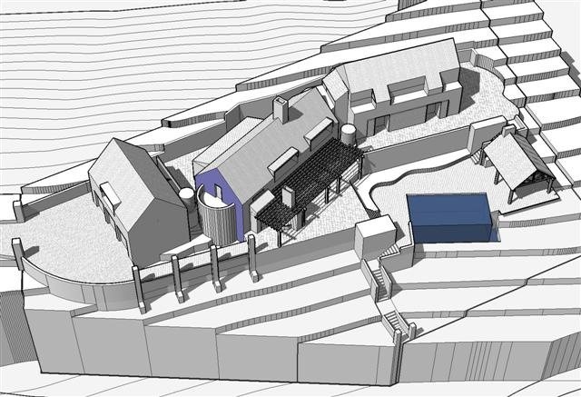 3D model proposed for dwelling design on a mountain site at Saintsburg, Pretoria East, South Africa