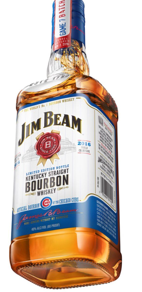 Jim Beam Limited Edition 'Game 7 Batch' bourbon whiskey, matured on the day the Chicago Cubs won the World Series