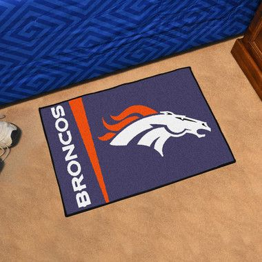 "Denver Broncos Uniform Inspired Starter Area Rug Floor Mat 20"""" X 30"""""