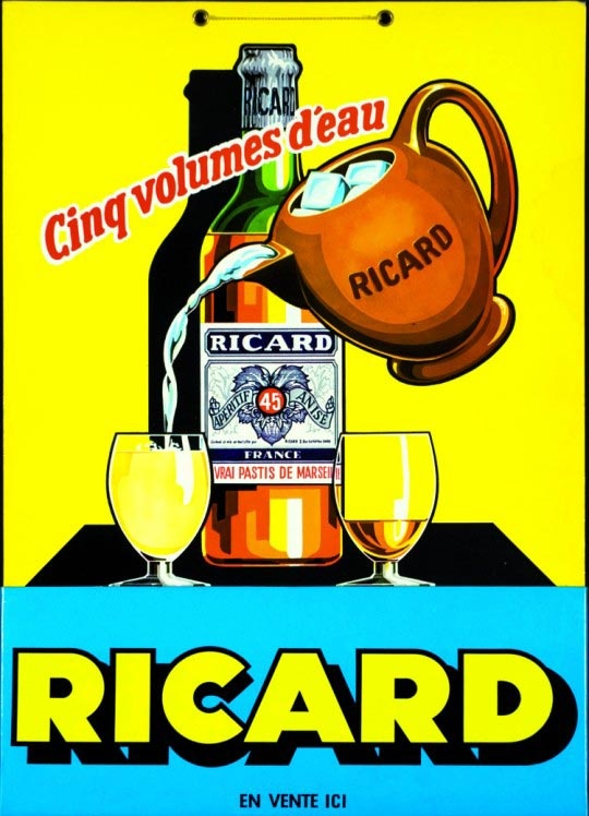 Ricard (1960) Chef G still has the yellow water pitcher for his Ricard.
