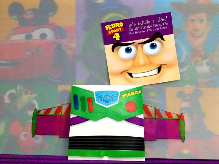 Convite de Aniversário do Buzz! Ao infinito e além!!!!!  facebook.com/ImagineArteDesign