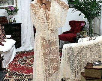 Bridal Silk Robe Champagne Chiffon Bridal Lingerie Wedding