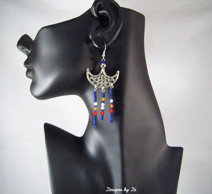 Earrings that go with the Silver Native American Inspired Bottle Cap Necklace