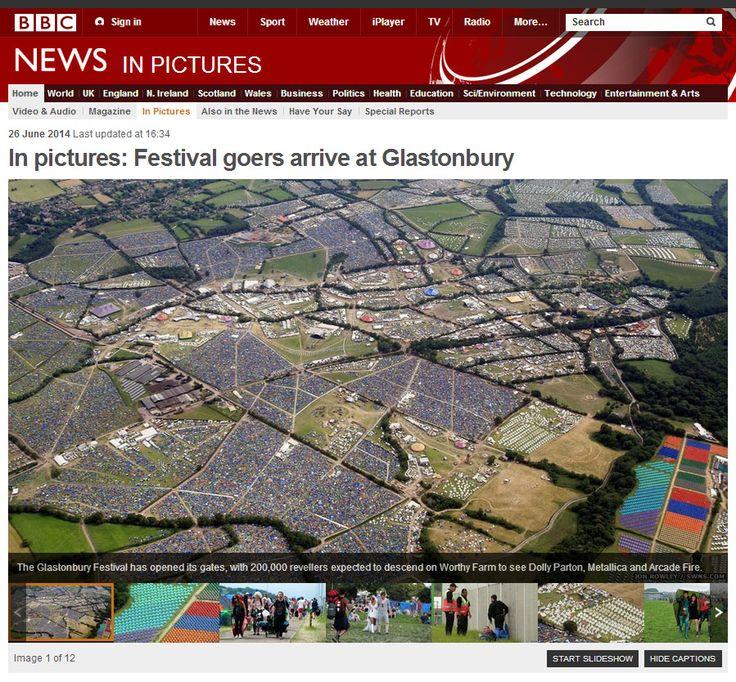 BBC News homepage by Jon Rowley