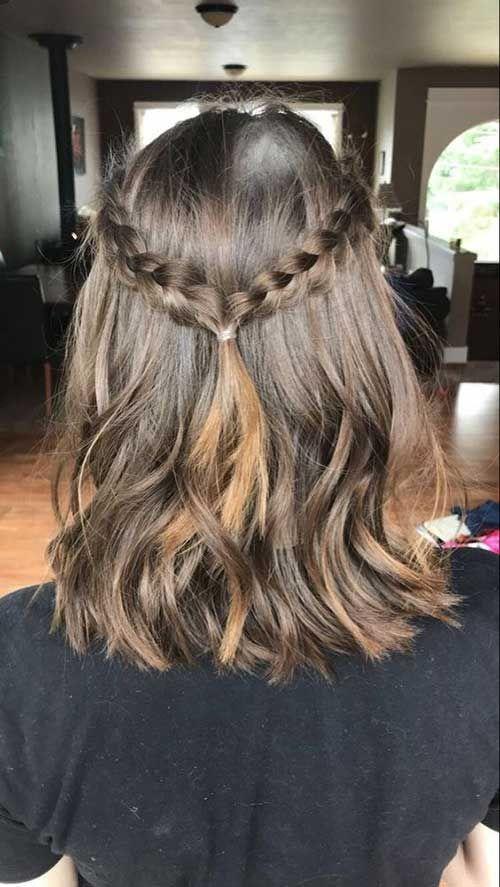 Søde fletninger til kort hår med 20 eksempler – #eksempler. # til #hår # Kort # sød