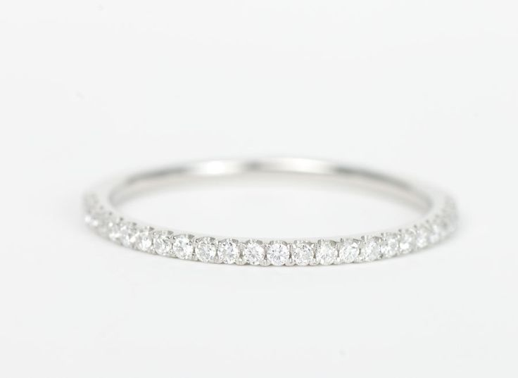 bands cut demi retro european art diamond platinum band old wedding deco
