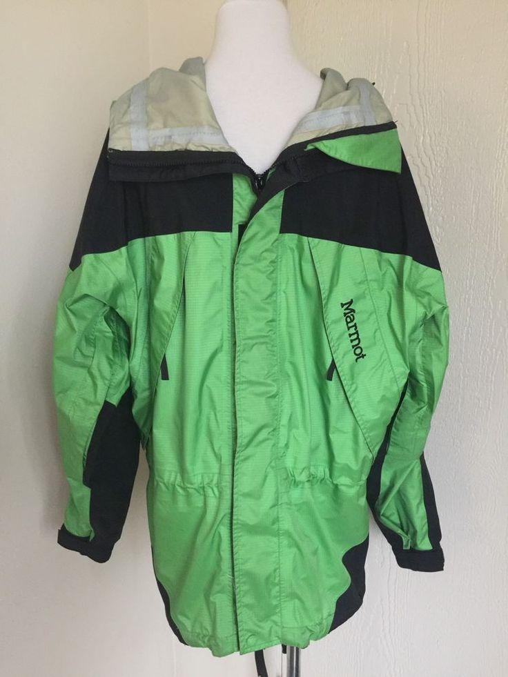 Marmot Size M Green Black 3 Ply Construction  Gore Tex Jacket  | eBay