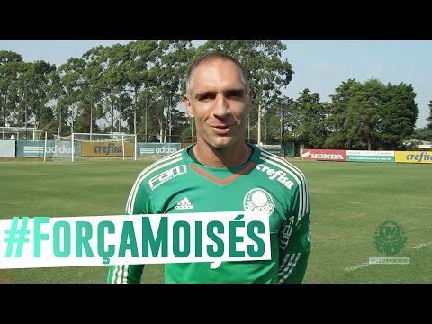 #ForçaMoisés - Elenco do Palmeiras envia recado - YouTube