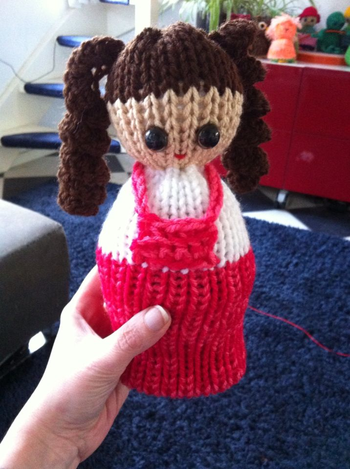 Reversible doll made with addi express.