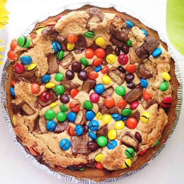 But, that is dumb, because candy is ALWAYS more delicious than fruit. So, make your pie with candy and cookie dough instead.