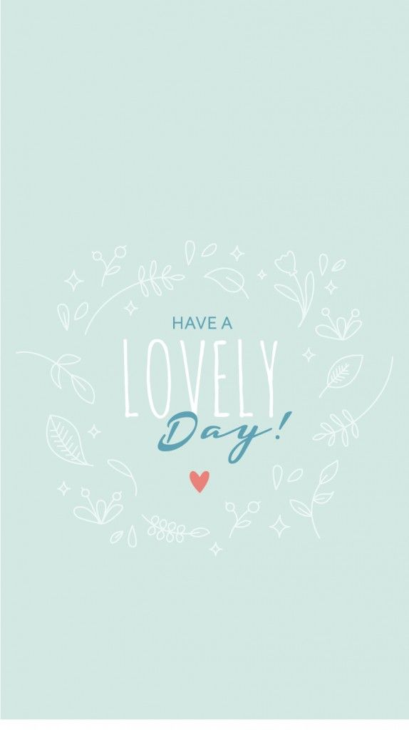 Lovely Day Soft Baby Blue iPhone Wallpaper Lock Screen @PanPins