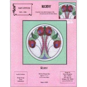 """Ruby (Art-Stitch, AS-206)"" [Pamphlet]  Karen Bourgaize, Chorale Bel Canto Soprano"