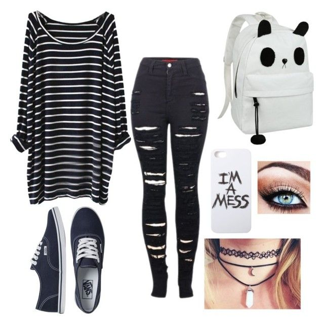 Grunge by shirlove1999 on Polyvore featuring polyvore fashion style 2LUV Vans LAUREN MOSHI ...