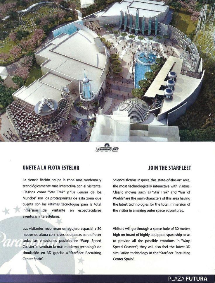 Tras la visita a la recreación 3D del Parque Paramount, en la ya famosa bolsa que incluía el dossier y la llave USB, también encontrábamos unas postales del futuro complejo, tanto del Parque Paramount...