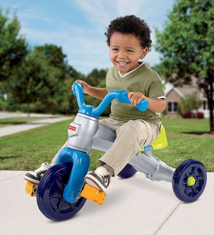 Big Wheel Trike Kids Tricycle Ride On Toy Toddler Bike Outdoor Fun Pedal Chopper #BigWheelTrike