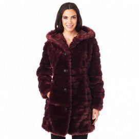 JESSICA®/MD Women's Faux-Fur Coat With Hood - Sears #SearsWishlistWonderland Contest
