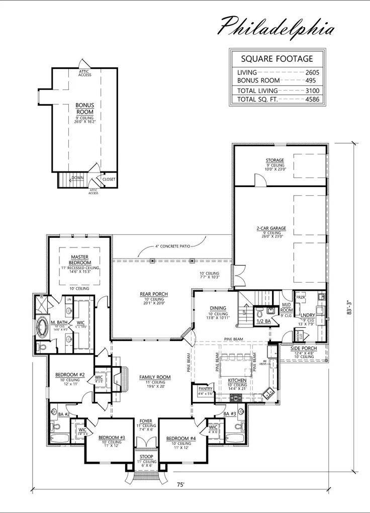 79 best floor plans open images on pinterest cottage for French country house plans open floor plan