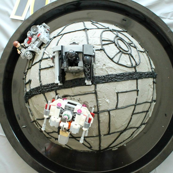 Star Wars Death Star Birthday Cake Tutorial - Crafted by Lindy