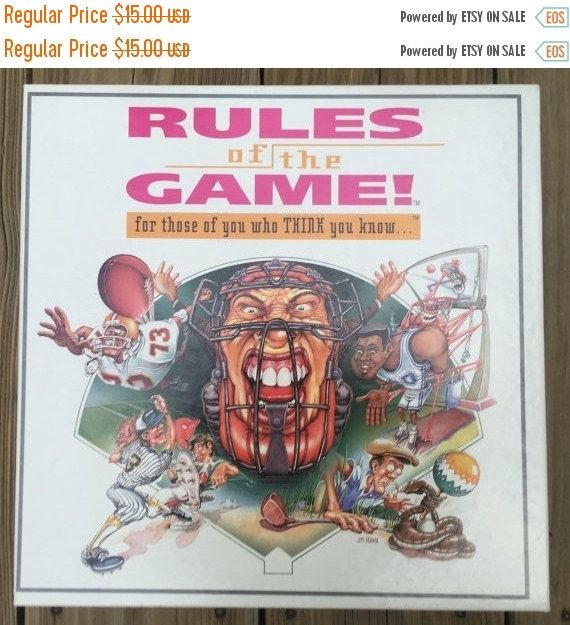 SALE Board Game Rules of the Game Sports Game Teens Adults Brand New Game Technologies Inc. Made in USA