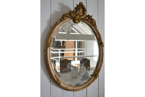 19th Century Oval Mirror   Vinterior   #19thcentury #antique