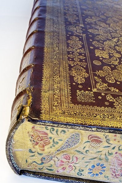 Bound Bible with decorated cut by Albert Magnus, 1670