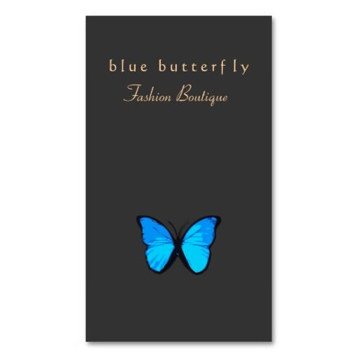 298 best feminine business cards images on pinterest for Butterfly business cards