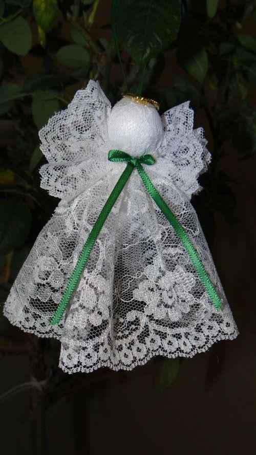 Lace Angel Christmas Ornaments   ANGELS   Pinterest ...