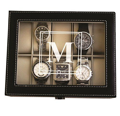 Personalized Black Watch Storage Box with Initial - Groomsman Wedding Father's Day Gift - Custom Engraved and Monogrammed My Personal Memories http://www.amazon.com/dp/B00OBWH308/ref=cm_sw_r_pi_dp_6tuRwb0BNYQYN