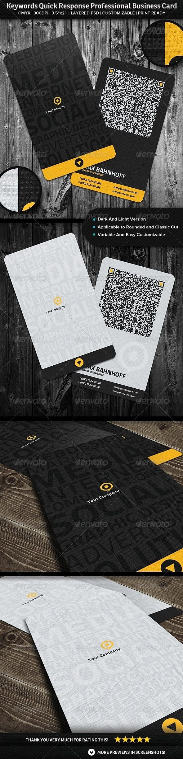 The Best Business Cards Images On Pinterest Business Card - Quick business card template
