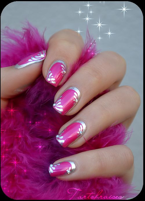The new trend in nails.. Crescent moon nail beds, edges a different color from top layer of polish