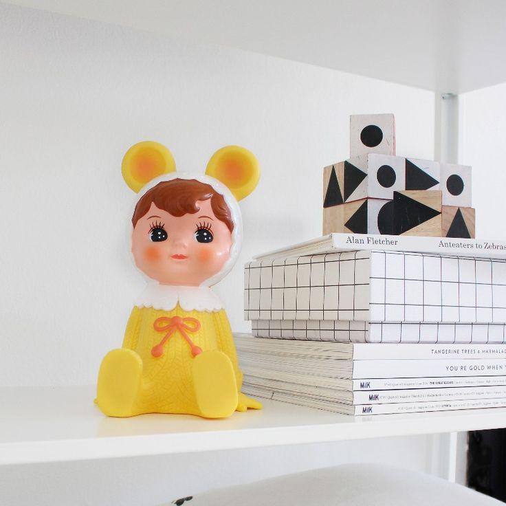 Gul Woodland dukke sparebøsse - Tinga Tango Designbutik