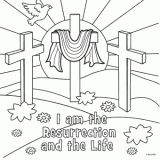 Resurrection Coloring Page Religious Easter Pages For Kids
