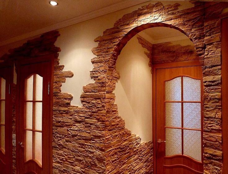 Декоративный камень в отделке квартиры » Женский Мир